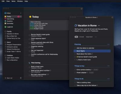 Things 3.7 for macOS Mojave Introduces Dark Mode