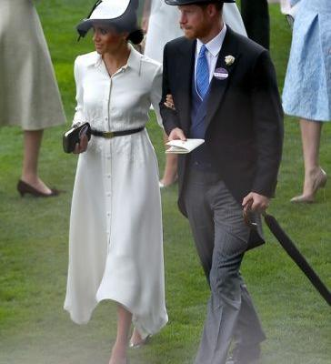 Meghan Markle's Royal Ascot Look Is An Homage To Her Wedding Gown