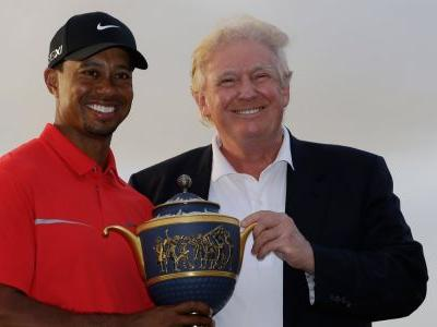 Tiger Woods got grilled about his relationship with Trump