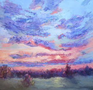 Warm Embrace Sky, New Contemporary Landscape Painting by Sheri Jones