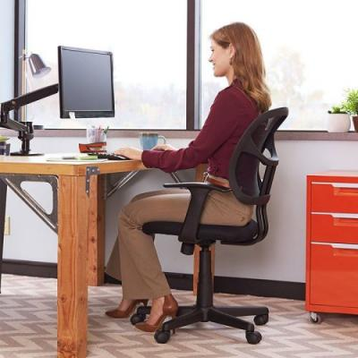 Upgrade your home office with this $49 AmazonBasics Mid-Back Mesh Chair