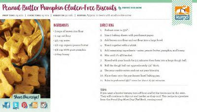 Kurgo Holiday Cookbook: Peanut Butter Pumpkin Gluten-Free Biscuits by Proud Dog Mom