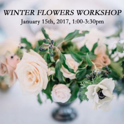 Winter Flowers Workshop Announced!