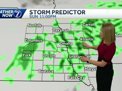 More light rain today, with a chance for t-showers this evening