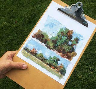 PAINTING ALONG THE ROADSIDE by TOM BROWN