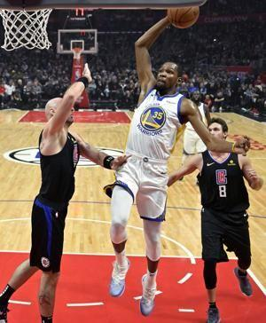 Warriors beat Clippers 112-94; Boogie fouls out of debut