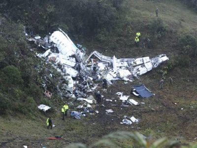 Championship-bound Brazilian soccer team nearly wiped out as plane crashes in Colombia