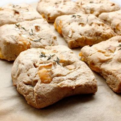 EASY APPLE CHEDDAR HERB BISCUITS