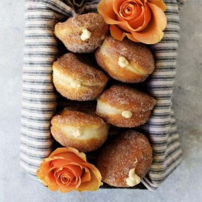 Filled Cinnamon and Sugar Donuts