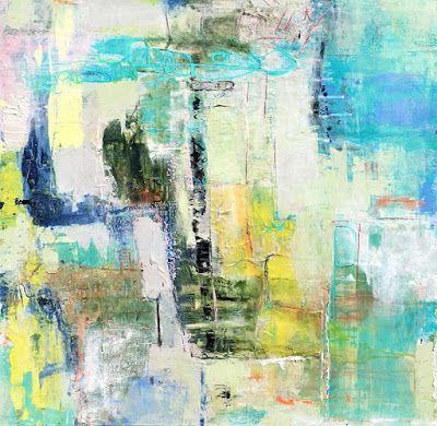 """Contemporary Abstract Expressionist Fine Art Painting, Mixed Media """"IF NOT NOW, WHEN?"""" by Contemporary Expressionist Pamela Fowler Lordi"""