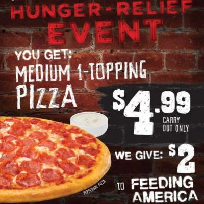 "Toppers Pizza Aims to Provide 150,000 Meals Through Brand-wide, One-Day ""Hunger-Relief"" Event"