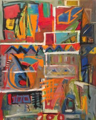 """Contemporary Abstract Expressionist Fine Art Painting """"FORGOTTEN"""" by Oklahoma Artist Nancy Junkin"""