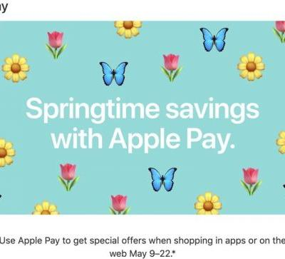 Apple Offers Springtime Apple Pay Promo With Discounts From Postmates, Priceline, Wayfair, Sonic and More