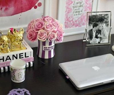 20 Unique Girly Office Desk Accessories Images