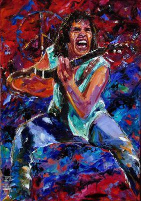 "Palette Knife Musician Art Portrait Oil Painting, ""Neil Young"" by Texas Artist Debra Hurd"