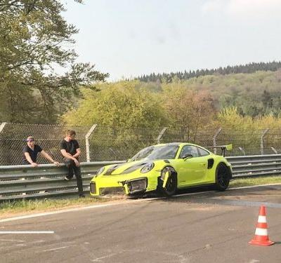 3-Day-Old Porsche 911 GT2 RS Crashes On The Nurburgring