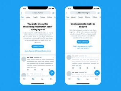 Twitter starts showing all U.S. users election misinformation warnings
