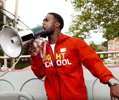 Kevin Hart Shouts At New York City to Promote Night School