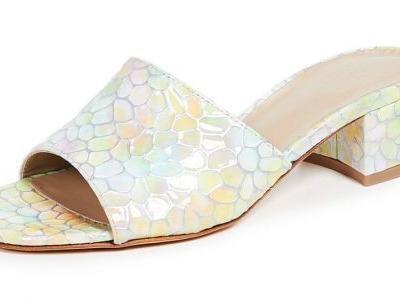 The Slide Shoes That Will Have Alyssa Channeling 'The Rainbow Fish' All Summer