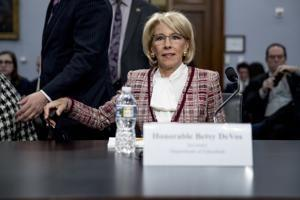 DeVos defends plan to eliminate Special Olympics funding