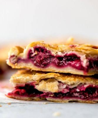 Strawberry Blackberry Slab Pie