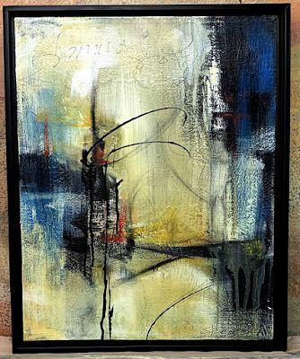 """Abstract Art, Contemporary Painting, """"Wandering"""" by Texas Contemporary Artist Sharon Whisnand"""
