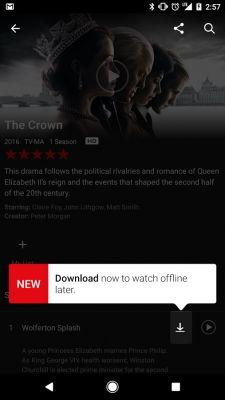 Netflix's new offline mode lets you download shows, watch them offline