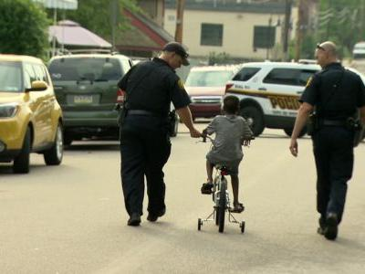 'It just shows there's hope:' Pittsburgh police officer donates bike to boy whose mother was killed