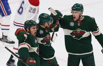 Wild take out recent frustrations in rout of Canadiens