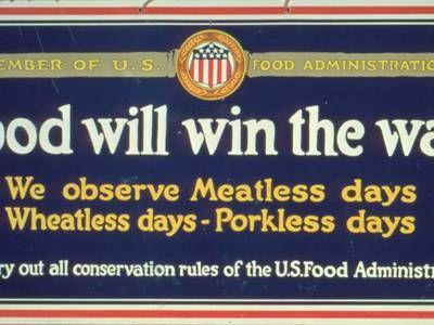 100 years ago, Food helped win the war