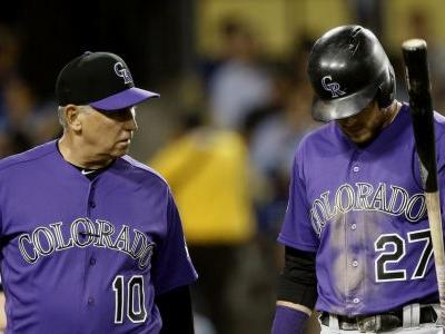 Rockies hope Story can return from sore elbow in a few days