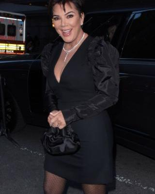 Hot Mama! Kris Jenner Slays in a Sexy, Black Dress While Stepping Out in NYC