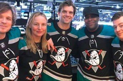 The Mighty Ducks Cast Reunited at a Hockey Game Over the