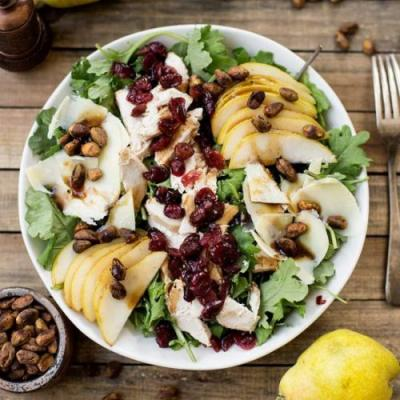 Chicken, Pear and Cheddar Salad