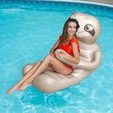 I'm Ready to Spend Every Slow and Sunny Summer Day on This Adorable Sloth Pool Float