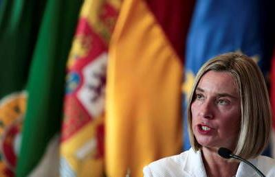 EU fully supports Iran nuclear deal, says Mogherini as Pompeo heads to Brussels