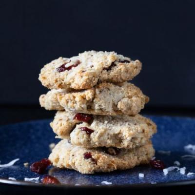 Coconut Cranberry Vegan Cookies