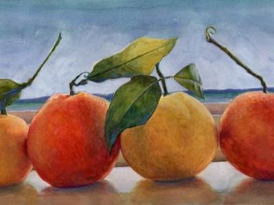 Traveling with Watercolors - and a watercolor titled Galilean Moons