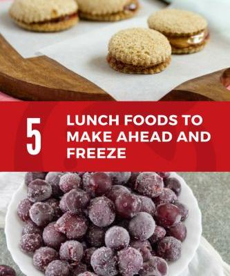 5 School Lunch Foods To Make Ahead and Freeze
