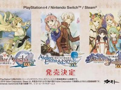 Atelier Ayesha DX, Atelier Escha & Logy DX, and Atelier Shallie DX Announced for Switch, PS4 and Steam