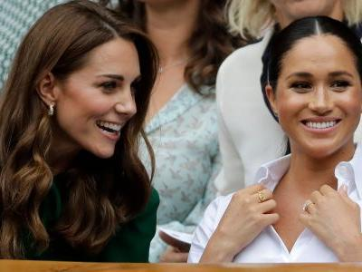 Meghan Markle joined by Kate and Pippa Middleton to watch her close friend Serena Williams play in the Wimbledon final