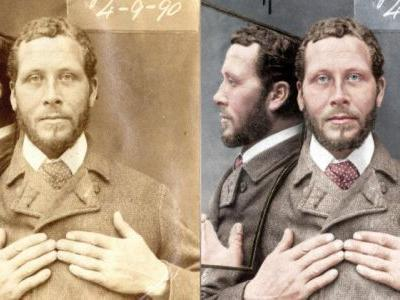 Victorian Prisoner Mugshots Brought to Life with Color and Motion