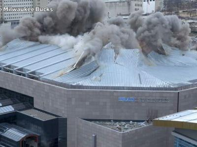 Crews implode Bradley Center roof