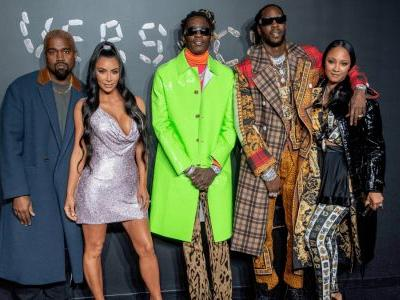 Celebrities Packed the Versace Pre-Fall Front Row in Some Wild Ensembles