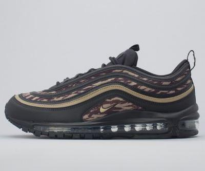 "Nike's Air Max 97 ""Tiger Camo"" Black/Brown Model Finally Hits Shop Shelves"