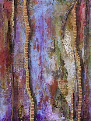 """Abstract Painting, Mixed Media Art, Contemporary Art For Sale, """"Stairway to the Stars"""" by Santa Fe Contemporary Artist Sandra Duran Wilson"""