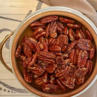 Sweet and Spicy Glazed Pecans