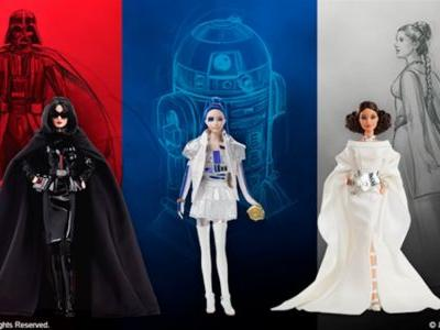 Barbie Gets a Line of STAR WARS Action Figures That Shows Off New Darth Vader, R2-D2, and Princess Leia Fashion