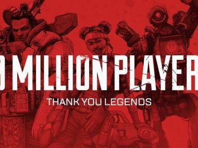 Apex Legends hits 10 million players and one million concurrent