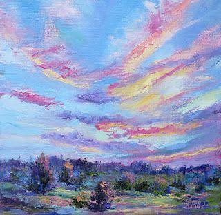 A Light Touch, New Contemporary Landscape Painting by Sheri Jones